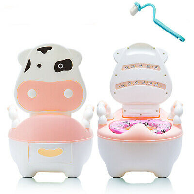 Baby Toilet Trainer Child Toddler Kid Potty Urinal Training Seat Cushion+Brush