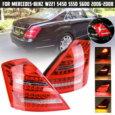Pair Rear Tail Light Brake Lamps For Benz W221 S450 S550 S600 S Class 2006-2008