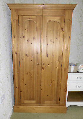 Pine Wardrobe, lovely condition, hanging rail & shelf, 194cm High by 1m wide, Ex