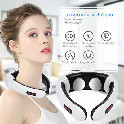 Electric Pulse Neck Massager Cervical Vertebra Magnetic Therapy Pain Relief