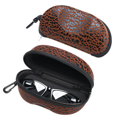 Leopard Print Eyewear Protector Eyeglasses Pouch Spectacle Case Glasses Box