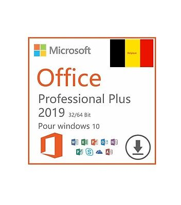 Microsoft Office 2019 Pro Plus Professional Key Lifetime License For Windows