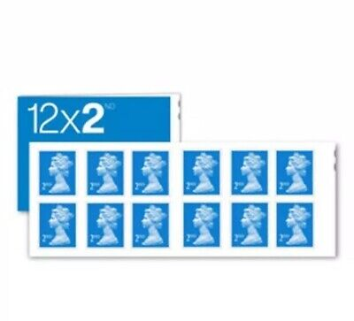 120 Royal Mail 2nd Class Book of 12 Letter Stamps. (12x10) Self Adhesive