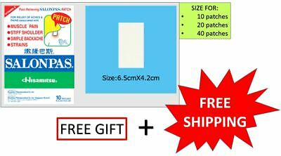 SALONPAS PAIN RELIEVING PATCH HISAMITSU 10/20/40 patches (with free gift)
