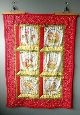 Vintage quilted baby blanket