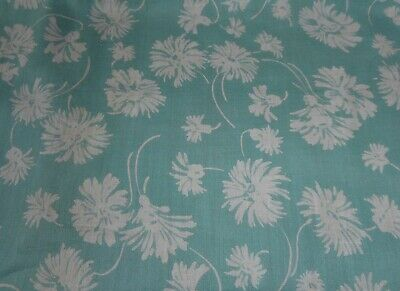 Antique French Hollyhock Floral Fabric #1~ Lavender Deep Pink Apricot ~ 1930/'s