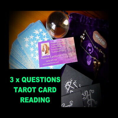 3 x QUESTION TAROT CARD READING OVER THE PHONE  Wicca Witch Pagan