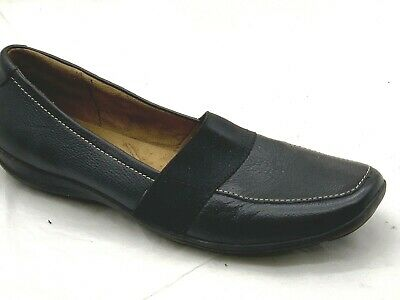 Naturalizer Fairlee ladies womens black leather flats loafers slip on shoes 10M