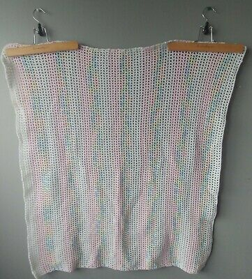 Knitted/crocheted baby blanket handmade