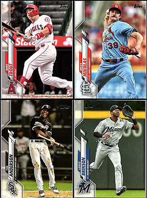 2020 Topps Series 1 Baseball Complete Base Set (350 Cards) 1-350 Boxed, Labeled