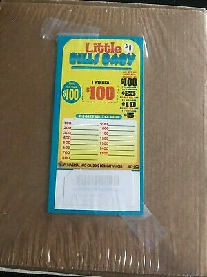 """""""Little Bill's Baby"""" 1 Window Pull Tab 600 Tickets Payout $500 Free Ship USA 48"""