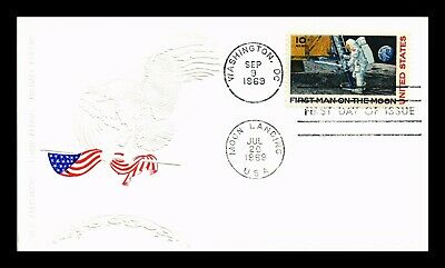 Dr Jim Stamps Us Embossed Cachet Apollo 11 Air Mail First Day Cover Scott C76