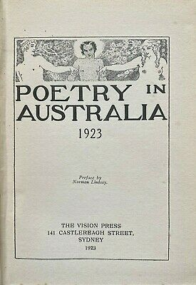 1923 POETRY IN AUSTRALIA, NORMAN LINDSAY, free shipping w/wide