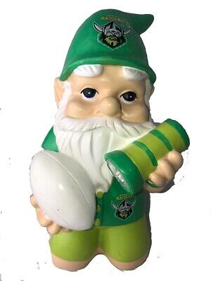 Canberra Raiders NRL Kneeling Garden Gnome with Solar Powered Torch