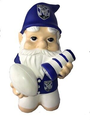 Canterbury Bulldogs NRL Kneeling Garden Gnome with Solar Powered Torch