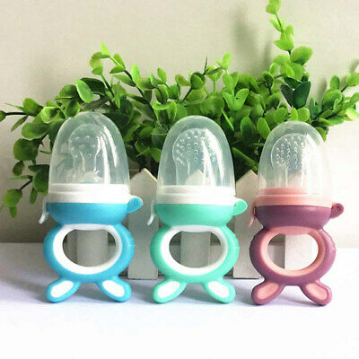 Baby Dummy Feeding Nibbles Weaning Nutrition Pacifier Fresh Fruit Feeder v1