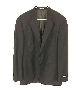 Mens Peter Millar Suit Jacket Gray Wool Size 44T