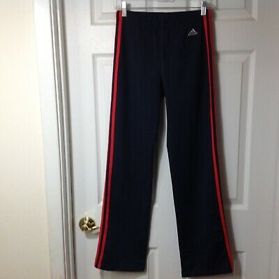 Adidas Girls Dri Fit Stretch Navy Blue Athletic Pants, Size Large, W13-18 X L30