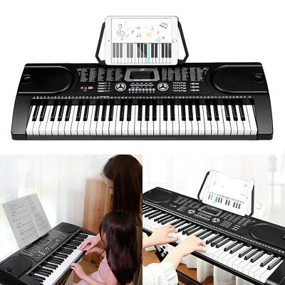 61 Keys Electronic Piano 128 Rhythms Tones Keyboard Teaching Practice Music UK