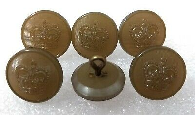 Genuine Vintage British Military Issue St Edwards Crown Khaki Buff Buttons 27L