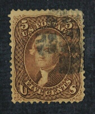 CKStamps: US Stamps Collection Scott#76 5c Jefferson Used Lightly Crease CV$120