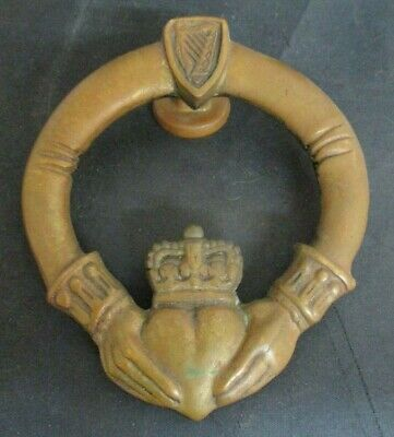 Irish Claddagh Ring Door Knocker Celtic Brassware Brass