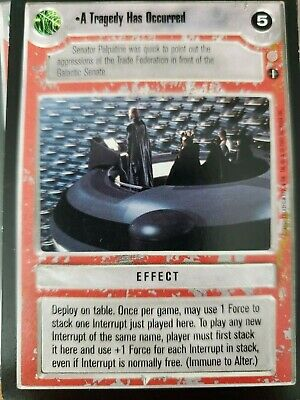 Star Wars CCG Coruscant 2nd TIER SINGLES Select Choose Your Card