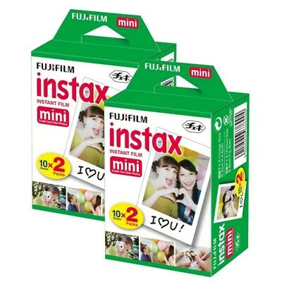 40 SHEETS Fujifilm Instax Instant Film For Mini 8-9 & all Fuji Mini Cameras