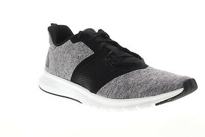 Reebok Print Lite Rush CN2606 Mens Gray Canvas Athletic Lace Up Running Shoes