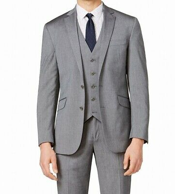 Kenneth Cole Reaction Mens Suit Separate Gray Size 38 Short Jacket $170- 132