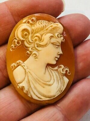Antique Victorian Hand Carved Cameo Plaque