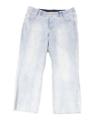 Jag Womens Jeans Island Blue Size 6P Petite Ruby Straight Crop Stretch $84 144