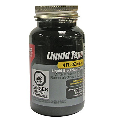Liquid Electrical Tape Black Waterproof Indoor Outdoor Adhesive Sealant 4 Oz Jar