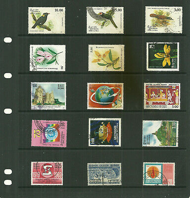 Commonwealth Ceylon/Sri Lanka 6  stock sheets  mix collection stamps