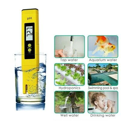 Digital Electric PH Meter LCD Tester Hydroponics Monitor Aquarium Water Test Pen