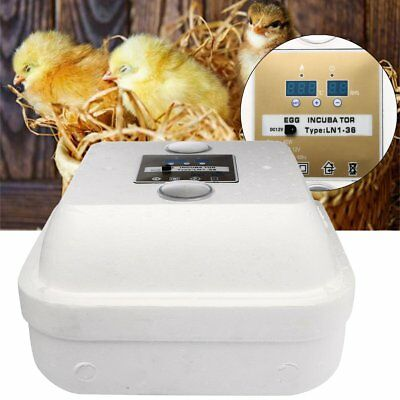 36 Egg Automatic Digital Incubator Chicken Poultry Hatcher Temperature