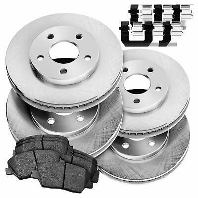 Frontier Front Rear  Blank Brake Rotors+Ceramic Brake Pads For Nissan Xterra