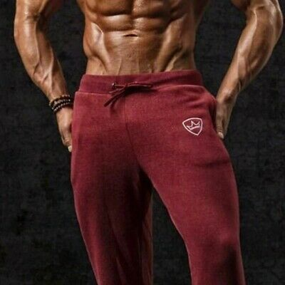 Men's Casual Gym Workout Track Pants Trousers Joggers Sweat Pants