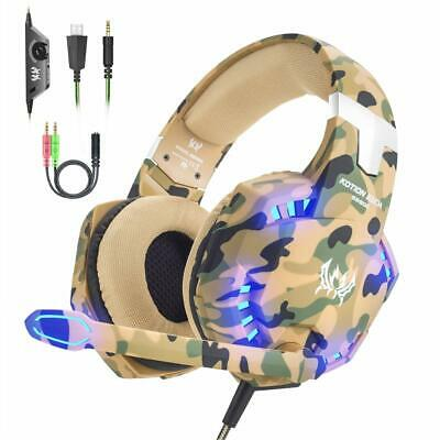 VersionTECH. Gaming headset for PS4 Xbox One PC Headphones with Microphone LED