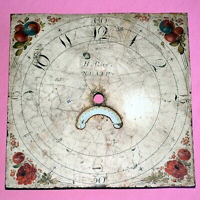 Grandfather / Longcase clock painted square dial
