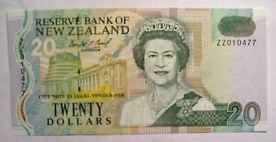 1992 New Zealand $20 REPLACEMENT P-179ar NEW banknote