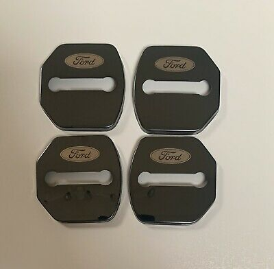 4 X Ford Focus Mk3 Fiesta Mk7 Stainless Steel Door Lock BLACK Style