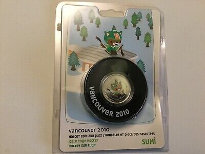 Vancouver 2010 Winter Olympics Sumi Coin and Souvenir Puck