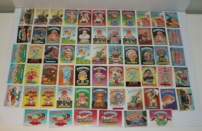 Garbage Pail Kids Series 6 Cards Lot of 61 Topps Chewing Gum Inc 1986 Excellent