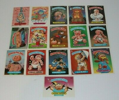 Garbage Pail Kids Series 6 Cards Lot of 16 Topps Chewing Gum Inc 1986 Excellent