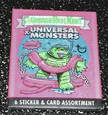Garbage Pail Kids x Universal Monsters Trading Card Brand New Pack