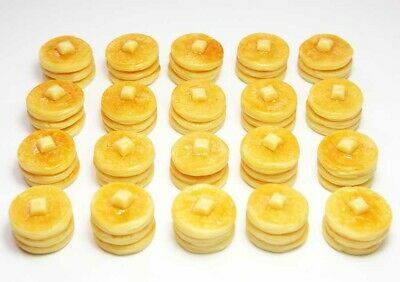 Doll Mini Food Pancake Breakfast 20 Dollhouse Miniature Pancakes with Butter