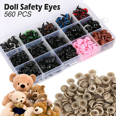 560X DIY Plastic Safety Eyes Noses Soft Toys Teddy Bear Doll Animal Making Craft