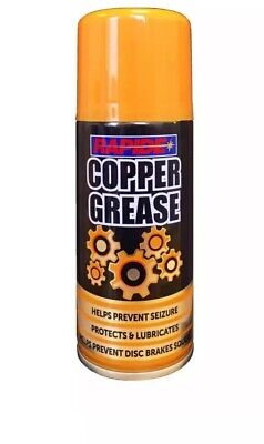 Rapide Copper Grease high temperatures Aerosol Spray for Car and Motorcycle X 6