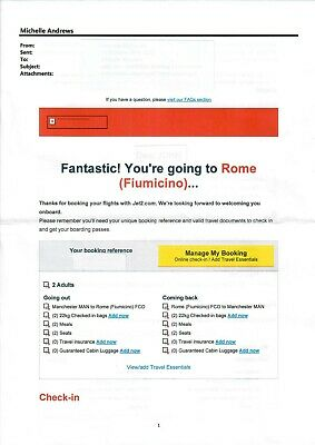 Flights Manchester to Rome 10th March